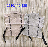 """Блузка дитяча стильна з рюшами на дівчинку 110-128 см (2 цв) """"MATILDA"""" купити недорого від прямого постачальника"""