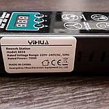 Паяльная станция YIHUA 8858 BGA, 220V, 700W Портативная паяльная станция с термофеном +3 насадки . Оригинал, фото 5