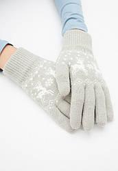 Отзывы (3 шт) о Faberlic Перчатки с новогодним орнаментом цвет серый арт 600634