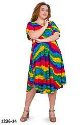 Женское летнее платье яркое в полоску