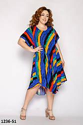Платье в полоску женское модное на лето