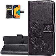 Чехол Clover для Samsung Galaxy M11 / M115 книжка кожа PU черный