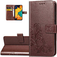 Чехол Clover для Samsung Galaxy M11 / M115 книжка кожа PU коричневый