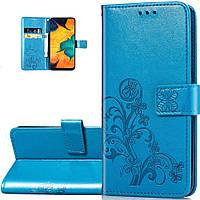 Чехол Clover для Samsung Galaxy M11 / M115 книжка кожа PU голубой