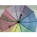 Зонт жіночий Веселка складаний напівавтомат Mario Umbrella 10 спиць антиветер Райдужний красивий, фото 3