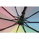 Зонт жіночий Веселка складаний напівавтомат Mario Umbrella 10 спиць антиветер Райдужний красивий, фото 4
