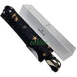 Парасолька жіночий повний автомат складаний B. Cavalli Зоряне небо 9 спиць в подарунковій коробці Чорний 4501, фото 5