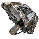 Зонт женский полный автомат складной Zicco 10 карбоновых спиц атласный Лондон Серый 5024, фото 4