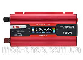 Инвертор преобразователь напряжения 12V в 220V Power Inverter UKC 1000W KC-1000D с LCD дисплеем