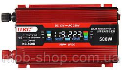 Инвертор преобразователь напряжения 12V в 220V Power Inverter UKC KC-500D 500W с LCD дисплеем