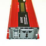 Инвертор преобразователь напряжения Power Inverter UKC 2000W KC-2000D с LCD дисплеем 12V в 220V, фото 4