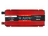 Инвертор преобразователь напряжения Power Inverter UKC 2000W KC-2000D с LCD дисплеем 12V в 220V, фото 3