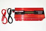 Инвертор преобразователь напряжения Power Inverter UKC 2000W KC-2000D с LCD дисплеем 12V в 220V, фото 6
