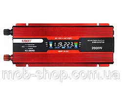 Инвертор преобразователь напряжения 12V в 220V Power Inverter UKC 2000W KC-2000D с LCD дисплеем