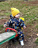Осенне-весенний комбинезон на флисе, демисезонный комбинезон утепленный, фото 5
