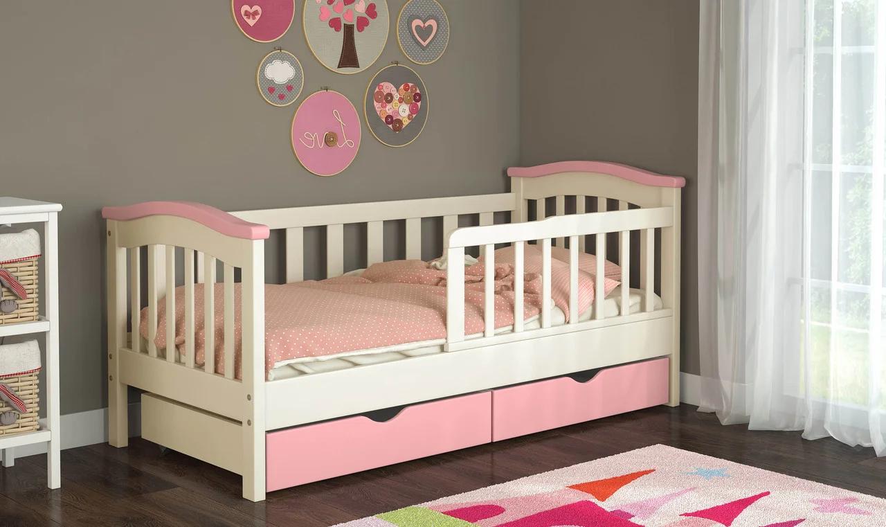 """Дитяче ліжко """"Мурка"""" з натурального дерева"""