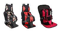 Бескаркасное детское универсальное автокресло Active+ Бустер Child Car Seat khaki Хаки Все виды