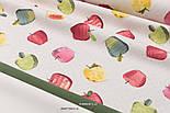 Однотонна тканина Duck колір кремовий, фото 3