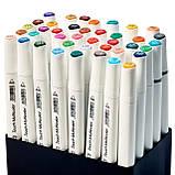 Набір для скетчів 2 в 1, Маркери художні Touch Multicolor 40 шт + Альбом для скетчинга А5 на 50 аркушів, фото 4