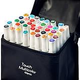 Набір для скетчів 2 в 1, Маркери художні Touch Multicolor 40 шт + Альбом для скетчинга А5 на 50 аркушів, фото 7