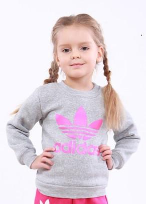 Детская толстовка с принтом Adidas для девочки трехнить