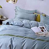 Комплект сатинової постільної білизни Євро розміру | Бавовняна постільна білизна високої якості, фото 2