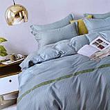 Комплект сатинової постільної білизни Євро розміру | Бавовняна постільна білизна високої якості, фото 5
