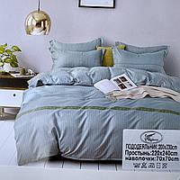 Комплект сатинового постельного белья Евро размера | Хлопковое постельное белье высокого качества