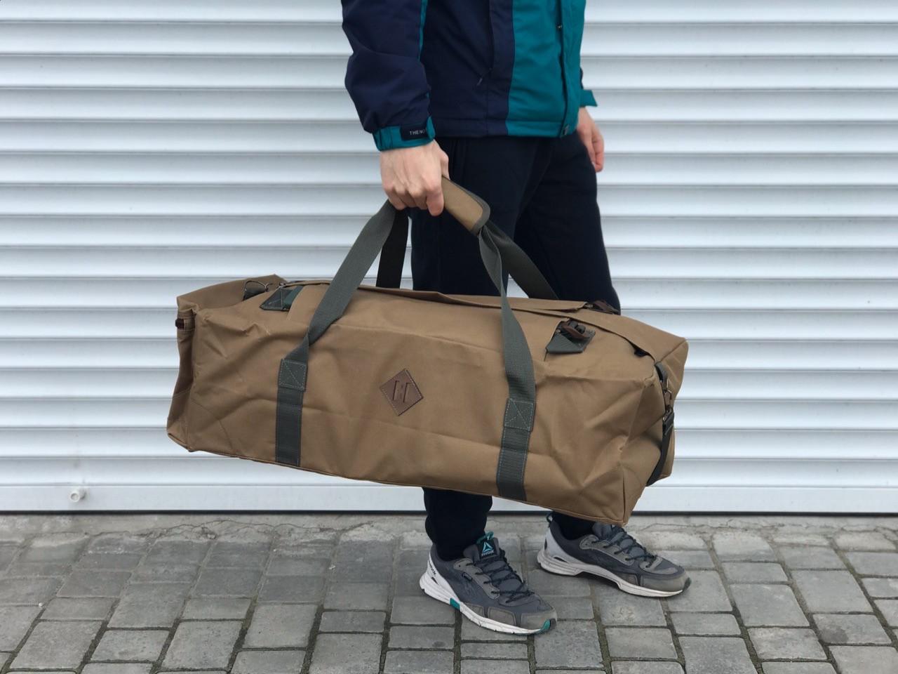 Велика дорожня сумка-рюкзак, оливка (60 л.)