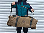 Велика дорожня сумка-рюкзак, оливка (60 л.), фото 5