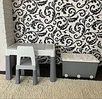 Комплект детской мебели - универсальный столик со стульчиком + ящик для игрушек, Tega Baby Польша
