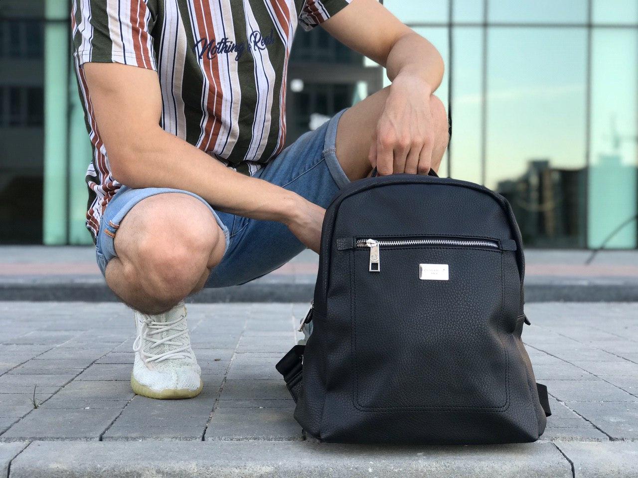 Шкіряний рюкзак David Jones чорний