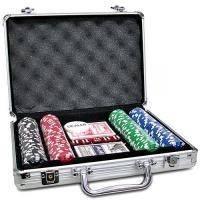 Игра  покер в алюминиевом чемодане на 200 фишек арт.IG-2056