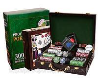 Игра  покер в деревянном чемодане на  100фишек арт.IG-6641