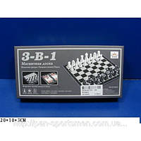 Шахматы, шашки, нарды  магнитные арт. SC58810 32х32см пластик