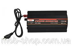 Автомобильный инвертор преобразователь напряжения UKC 1300W с Зарядкой аккумулятора 12V в 220V