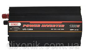 Инвертор преобразователь напряжения UKC 1300W с Зарядкой аккумулятора 12V в 220V