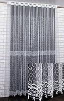 Нарядна тюль, гардини з тканини Кристалон. (3х2,5м), Код 556т 40-220, фото 1