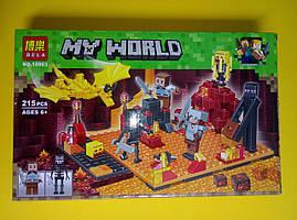 Конструктор My World Bela Напад в нижньому світі, 215 деталей