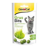GrasBits вітамінізовані таблетки GimCat з травою для кішок 40 г/65 шт