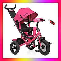 Трехколесный велосипед на надувных колесах с игровой панелью, Turbotrike M 3115HA розовый