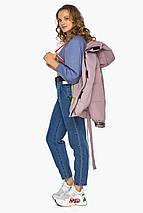 Трендова куртка пудрова жіноча модель 21045, фото 3
