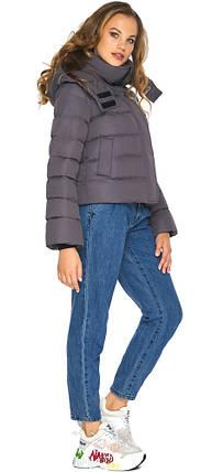 Графитовая куртка трендовая женская модель 21470, фото 2