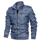 JP original Мужская байкерская куртка PU кожа, фото 3