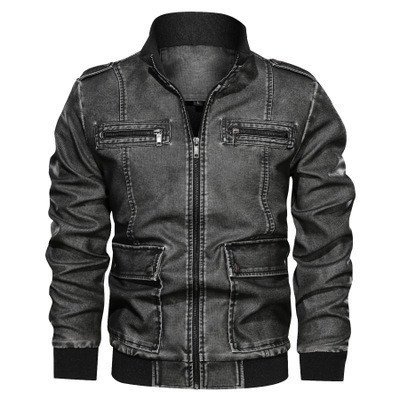 JP original Мужская байкерская куртка PU кожа