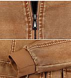 JP original Мужская байкерская куртка PU кожа, фото 8
