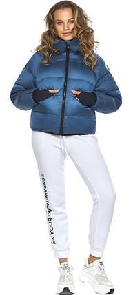 Оригінальна аквамаринова куртка жіноча модель 26420 46 (XS), фото 2