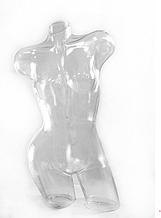 Манекен пластиковый Венера изогнутая прозрачная