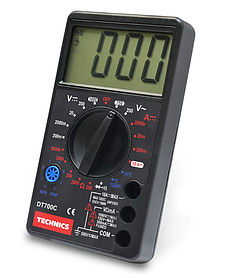 Мультиметр Technics DT700C цифровой 8 функций + зуммер (46-821)