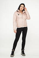 Жіноча демісезонна куртка (Пудра)